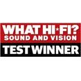 5 STARS WHAT HIFI - SOUND AND VISION TEST WINNER
