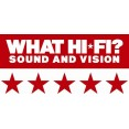 5 STARS WHAT HIFI - SOUND AND VISION