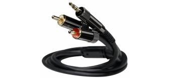 Stereo cable, JACK 3.5 mm to JACK 3.5 mm, 1.2 m