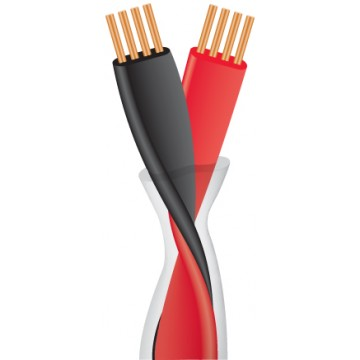 Speaker cable per meter (2 x 1.25 mm2)