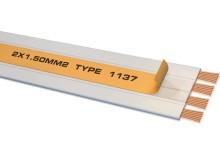 Bi Wire Speaker cable per meter (4 x 0.75 mm2), cu dublu adeziv pentru fixare